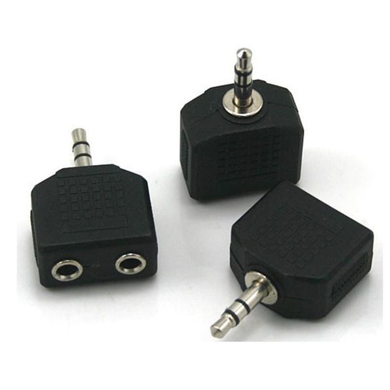 Heißer Verkauf 3,5 mm Klinke 1 bis 2 Doppel Kopfhörer Y-Splitter-Kabel-Adapter-Stecker für Computer für Telefon für MP3