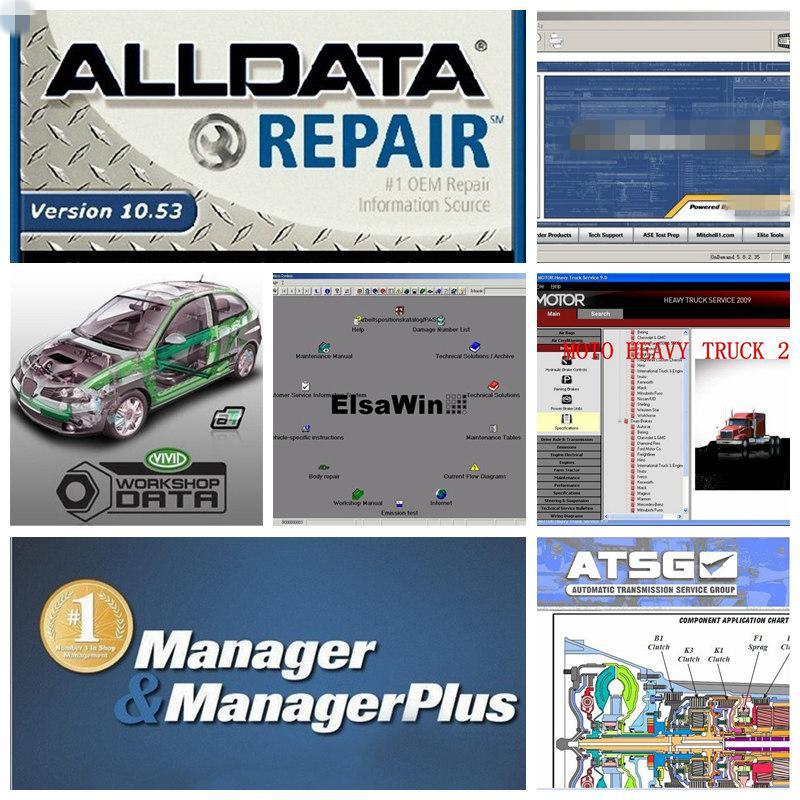 logiciel de réparation automatique alldata v10.53 toutes les données avec voiture logiciel mitchll ATS-G réparation de données 50 in1TB disque dur USB3.0 plus rapide