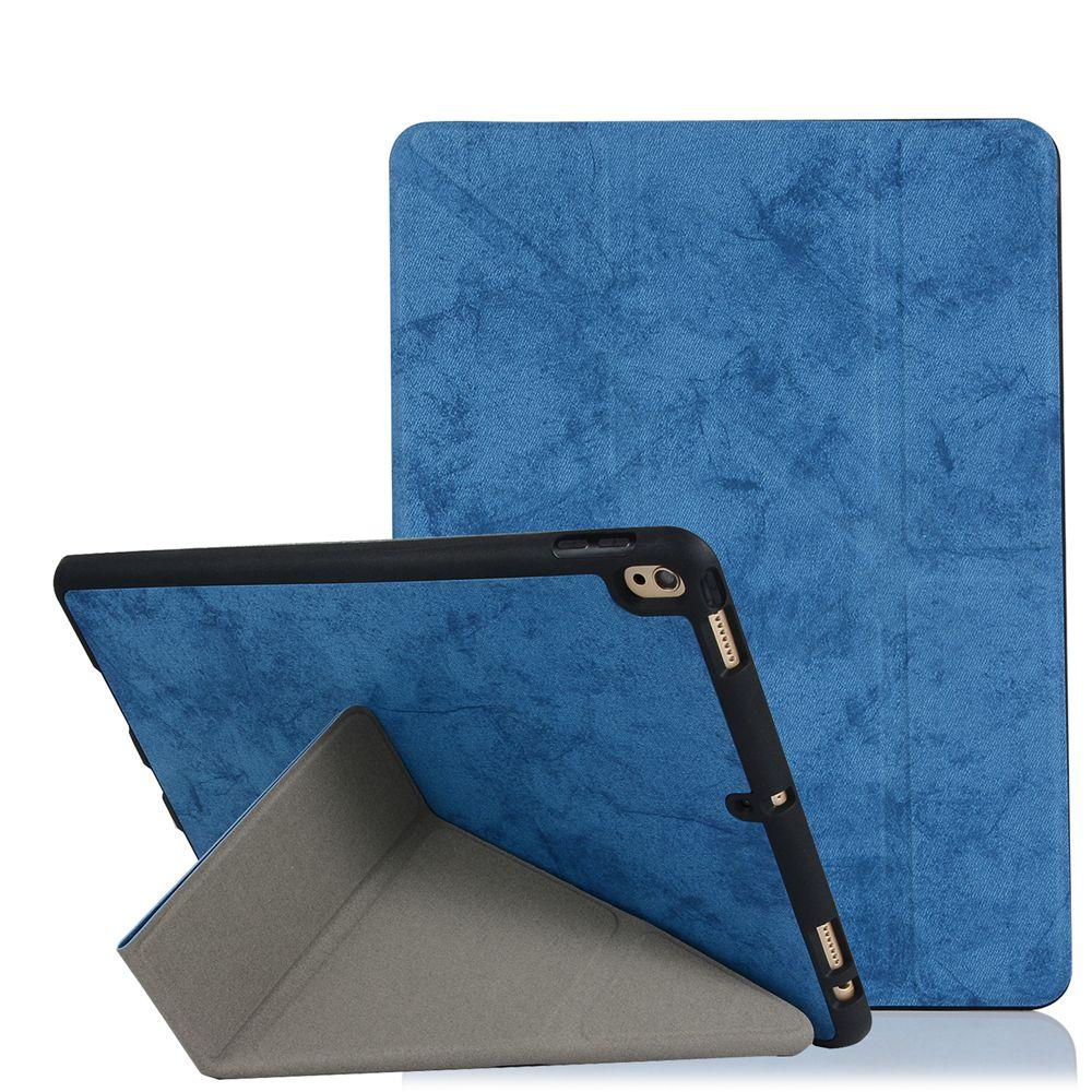 Denim iPad Case Silicone Back Soft Back iPad 10.2 Pro 10.5 2020 Nouvel iPad 9,7 2017 Mini 4 5 123 AIR 2 3 7 Coque de dormance de la déformation intelligente