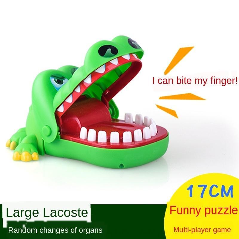Большой крокодил палец грызть игрушка акула зуб-вытягивать игра ручной кусает крокодил родитель-ребенок дети околдован игрушки