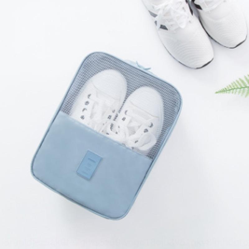 los viajes de almacenamiento portátil a prueba de agua bolsa de almacenamiento portátil zapato de doble capa gran capacidad de bolsa de zapatos de viaje
