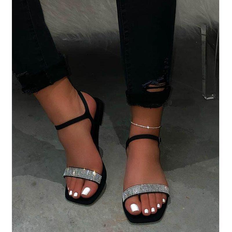 2020 sandali delle donne Modo più il sandali delle signore degli appartamenti per l'estate della donna dei pattini Peep Toe piatto scarpe casual Sandalias Mujer