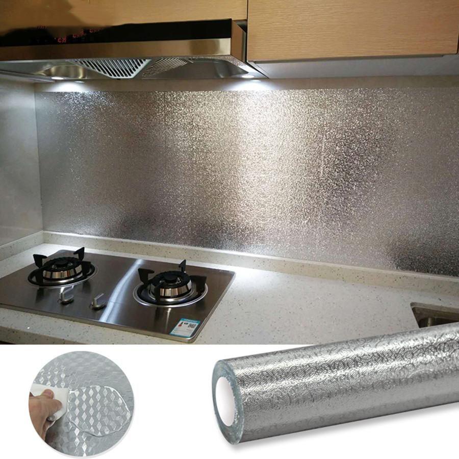 Selbstklebende PVC-Tapete für Küchenwände ölfestes wasserdichtes Peel- und Stock-Kontaktpapier Wohnen Dekor Abnehmbare Wandwandlungen
