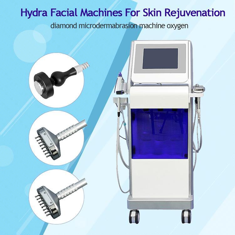 vaccum facial cleaner/ bio spray plus rf skin tightening machine Hydra +oxygen+BIO+skin scrubber+PDT bio for skin care for women