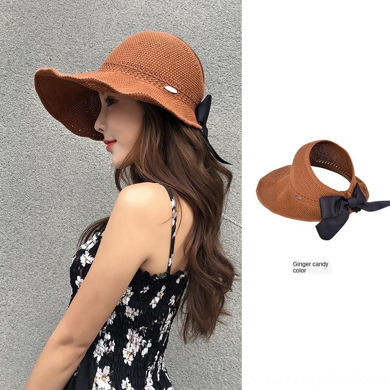 feminino coreano dobrável à prova de UV de viagem ao ar livre todo o jogo vazio topo chapéu de sol guarda-sol chapéu de sol de verão