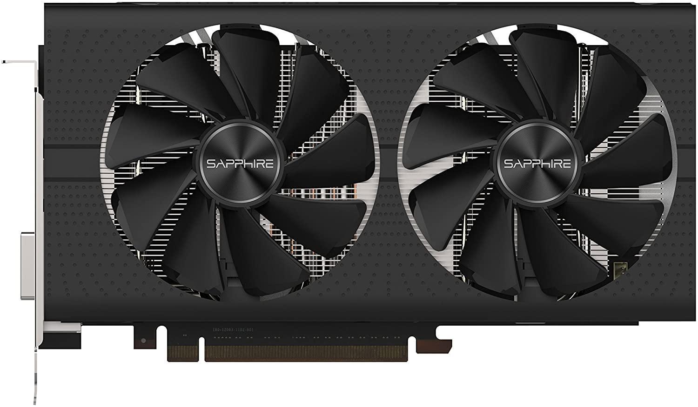 الياقوت Radeon 11265-05-20G نبض RX 580 8GB GDDR5 المزدوج HDMI / DVI-D / DVI DP DP OC مع بطاقة رسومات PCI-E Backplate (UEFI)
