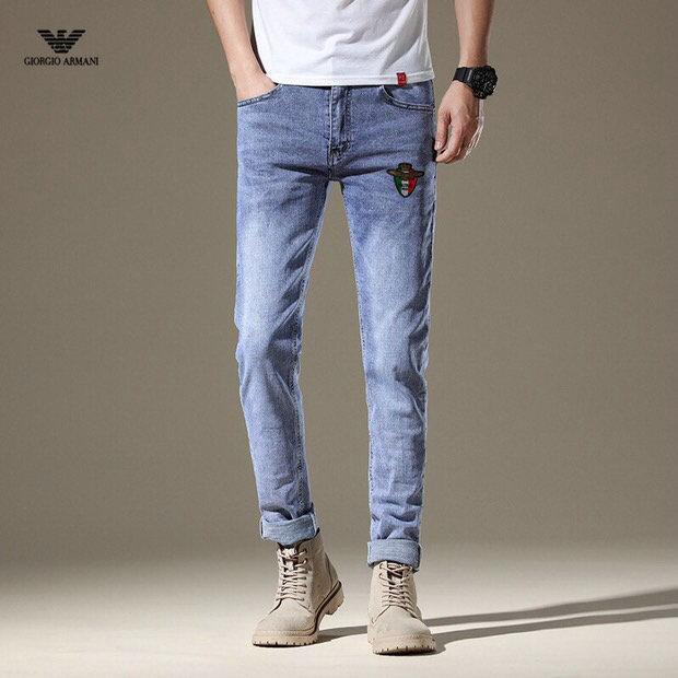 Yeni moda erkekler siyah kot yırtık sıska Stretch İnce batı kalça hop yağma kot motosiklet motorcu pantolon koşucu ~~ SD56