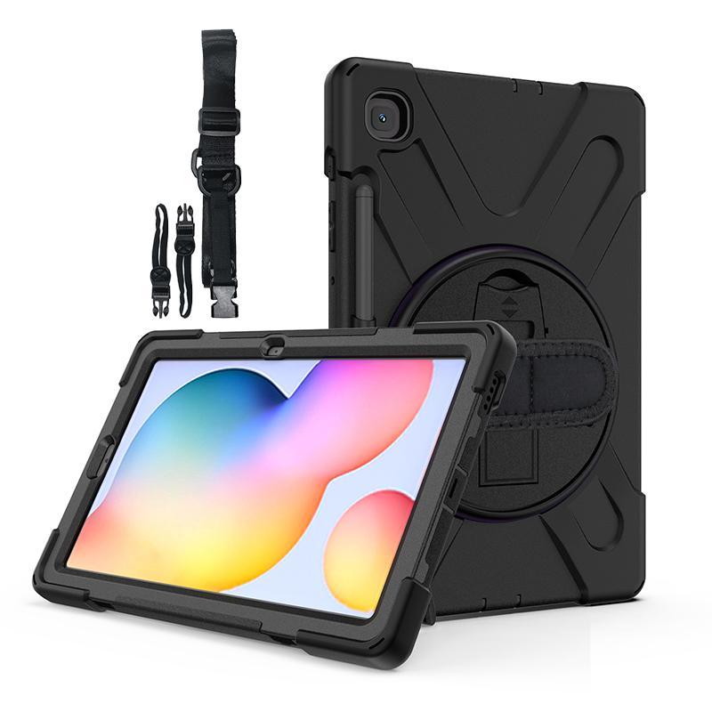 Kids Cofre à prova de choque à prova de choque capa com alça de ombro e suporte de caneta para Samsung Galaxy Tab S6 Lite 10.4 Silicone Case