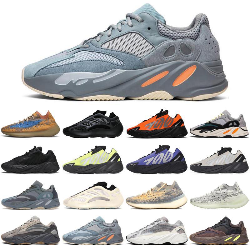 adidas yeezy boost скидка Синий Овес 700 v3 mnvn волна бегун 380 мужчин женщин кроссовки тройной черный оранжевый мужские Тренажёры Спорт кроссовки бегунов