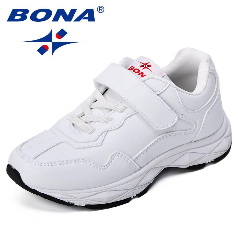 BONA New Popular Style Children Casual Shoes Synthetic Boys Fashion Sneakers Hook & Loop Girls Leisure Shoes Comfortable Light