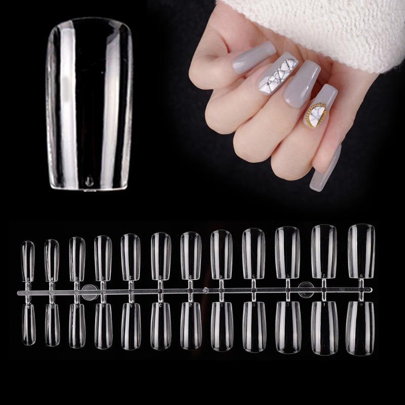 Nail Art Kits 504PCS Поддельные ногти Pull Stick Короткие версии Cakelet Tips Fale Piece Для бытовой медицинской помощи
