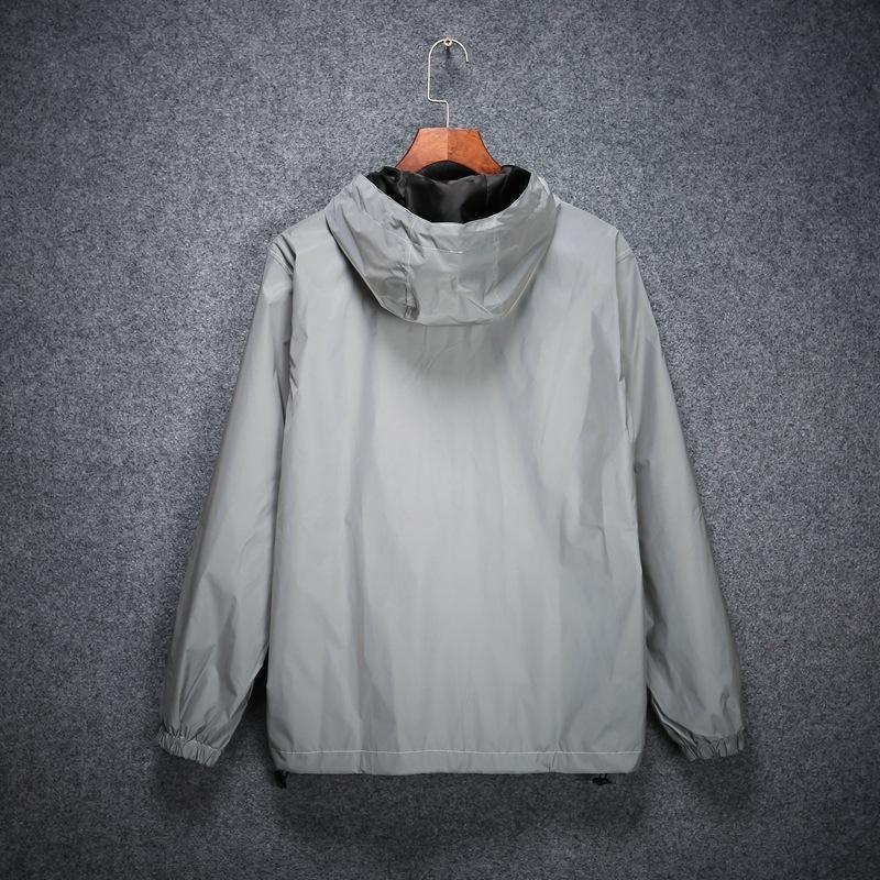 zC1Da Luminous одежда осени и зима для мальчиков и девочек ветровки пальто ветровки Корейского стиля пар светящихся люминесцентных отражающего