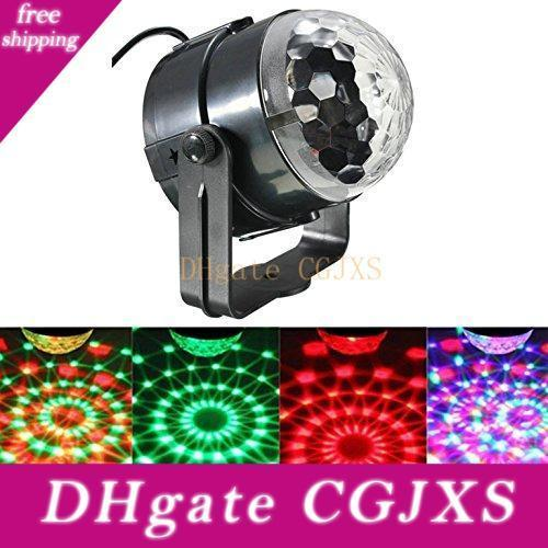 Mini Disco Dj Stage Lights ,Sound Activated Led Rgb Strobe Crystal Magic Rotating Ball Stage Lights For Ktv Xmas Party Wedding Show