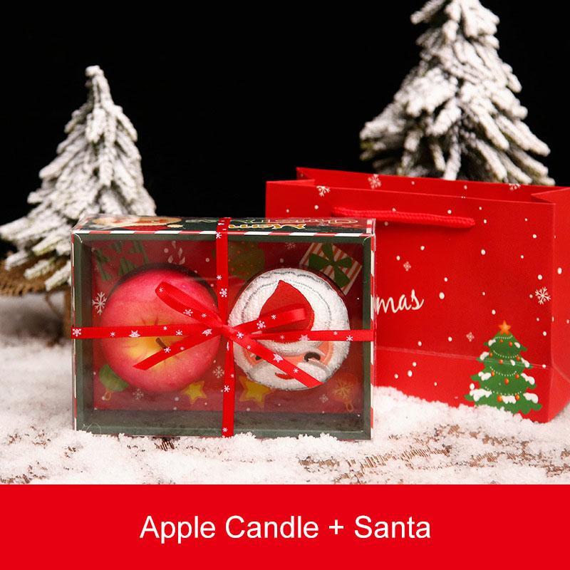 Noel Havlu Pamuk Noel Baba Kardan Adam Noel ağacı Yumuşak Havlu Parti Pamuk Elma Mum Dekor Hediye