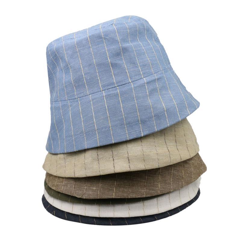 2020 Summer women Foldable Bucket Hat Stripe Hip Hop panama Beach hat UV Protection Round Top Sunscreen Fisherman Cap