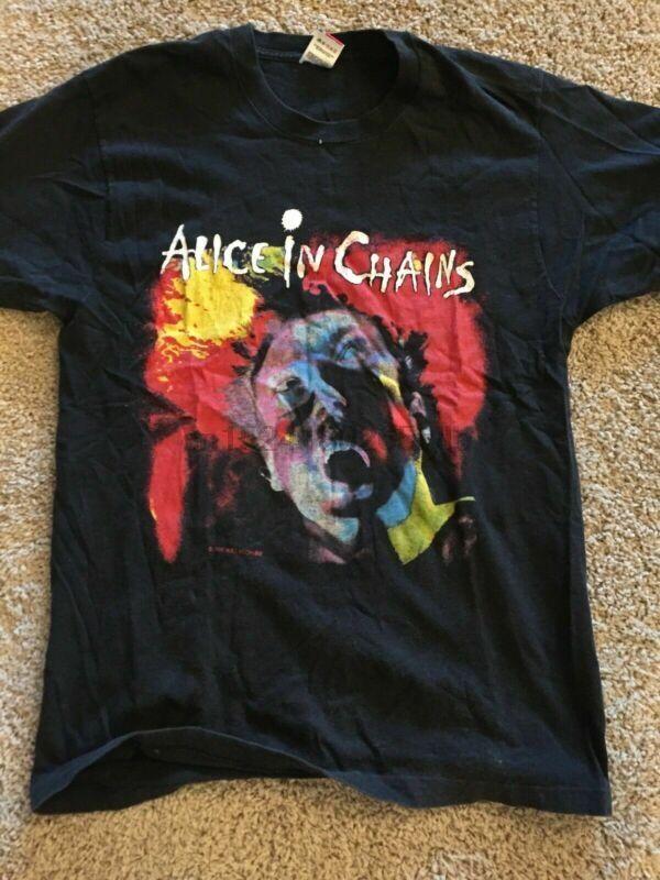 Alicia en las cadenas del metal del Grunge cirugía estética Rare Vintage 1991 camiseta Reimpresión SZ S-3XL