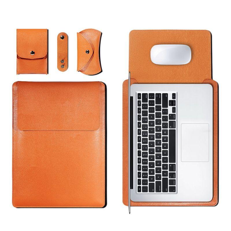 Tablet PC PU Deri Çanta Kılıfları Macbook Hava Pro 11 12 13 15 16 inç Kapak A1466 Liner Kol 13.3 A2179
