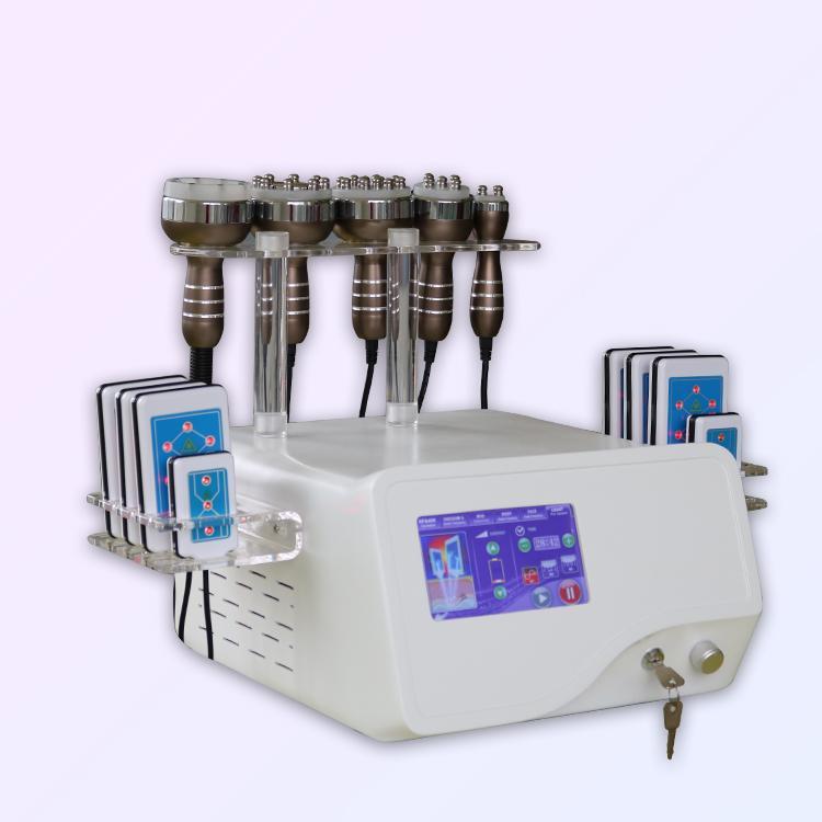 мощный lipolaser ультразвуковой аппарат высокого качества Rf Кавитация ультразвуковая Rf уменьшить жир с липо лазерных колодками