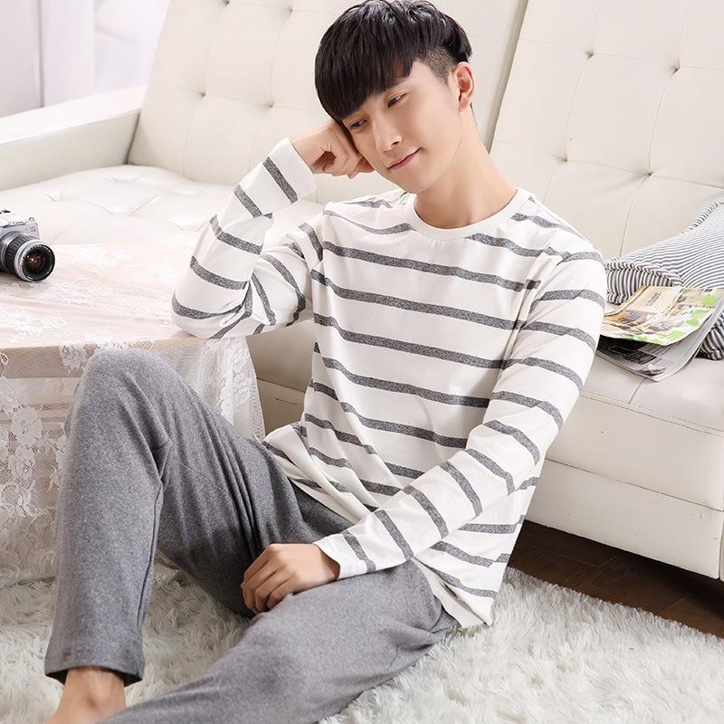 2019 nuova coppia vestiti fornire domestico pigiami abbigliamento vestiti a casa da uomo in cotone set sottile