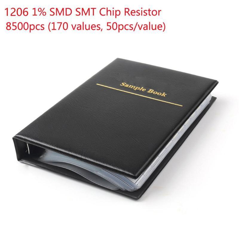 1 set 1206 smd resistor sample book 170values 50 pcs 8500 pcs 1% 0ohm chip resistor kit assortment