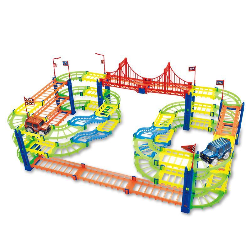 170 stücke Größere Rall Partikel Blöcke Jungen DIY Intelligenz 07 Montage Gebäude Geschenk Kreative Auto Spielzeug für Leuchtende und Mädchen Kinder LXAtf