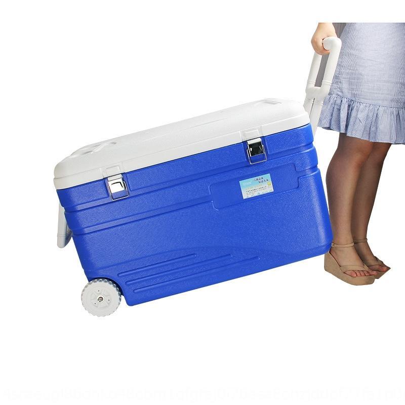 SrhvK 105L super grande frigorifero frigorifero casella di pesca all'aperto con ruote portatile pic-nic di consegna cibo frutti di mare contenitore di ghiaccio fresco di mantenimento