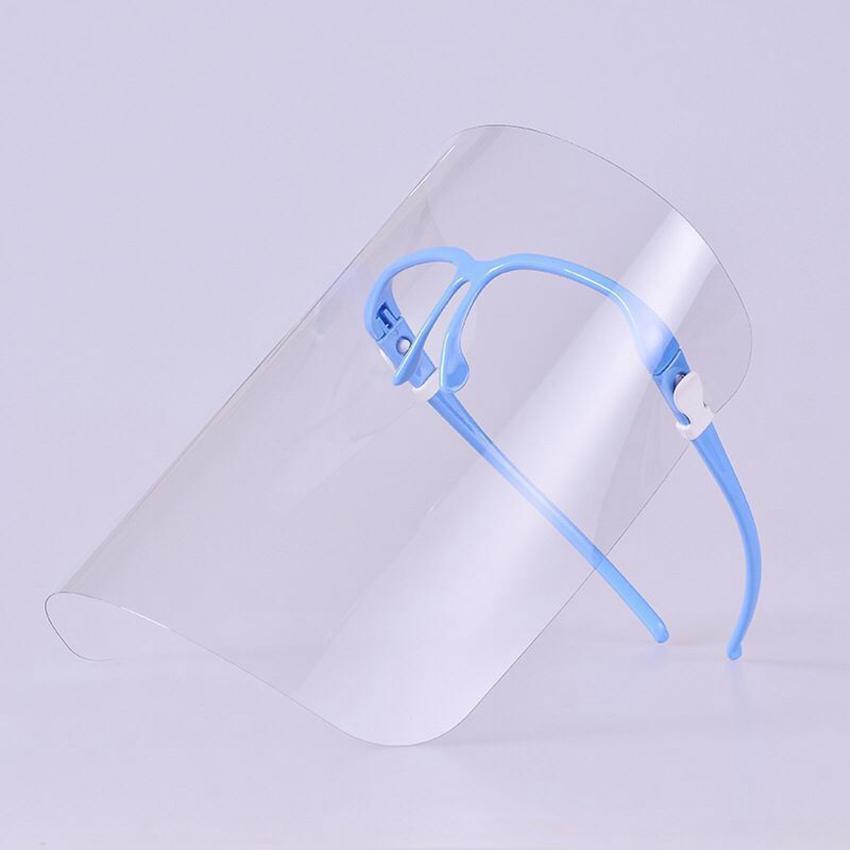 Face Escudo Óculos Limpar completa de segurança capa protetora anti-fog Segurança Oil-à prova de respingos rosto Tampa máscaras de vidro faciais 4 cores LJJK2414