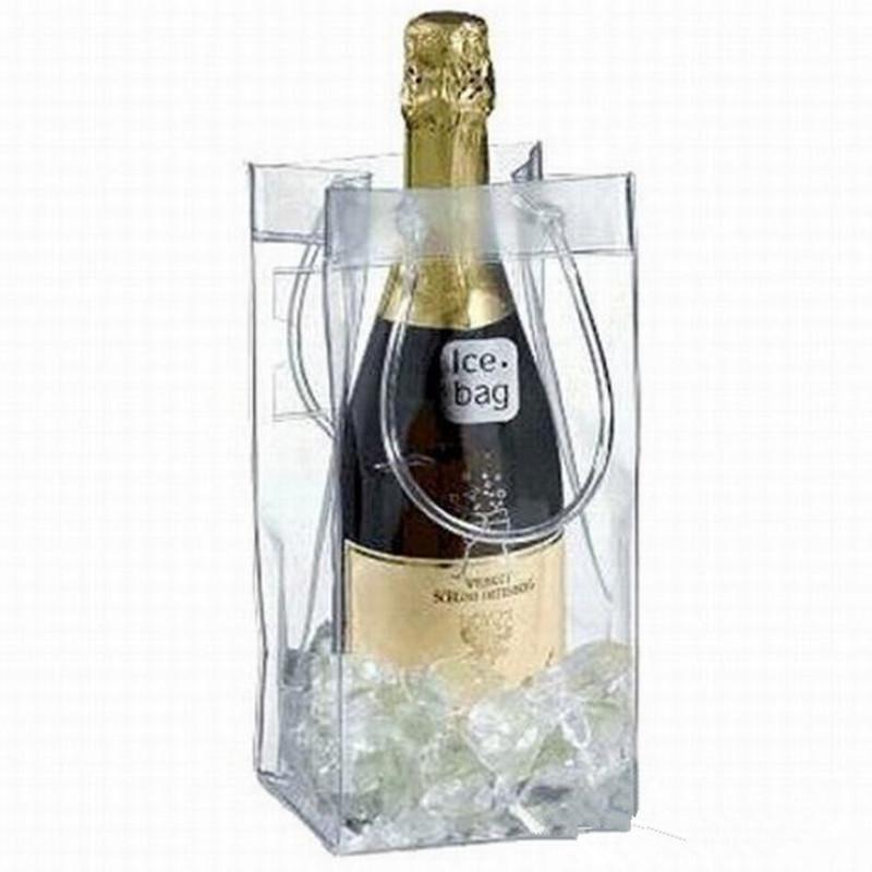 La bolsa del regalo del vino de la cerveza del cubo de Champán bebida botella bolsa de hielo más frío Chiller plegable portador del festival del favor del regalo Bolsas