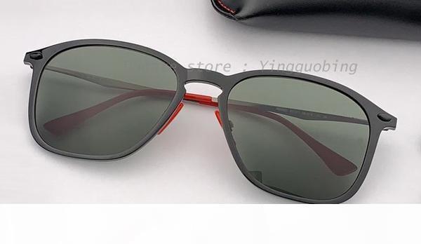 nuova moda leggero piazza Occhiali da Sole Uomo Marca unisex di vetro di Sun Goggles guida occhiali classica Retro Oculos UV400 gafas
