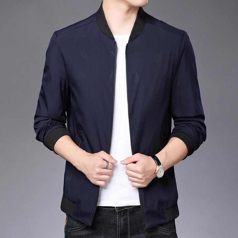 Spring and Autumn new men Jacket 's jacket casual coat solid color simple fashion thin coat for men