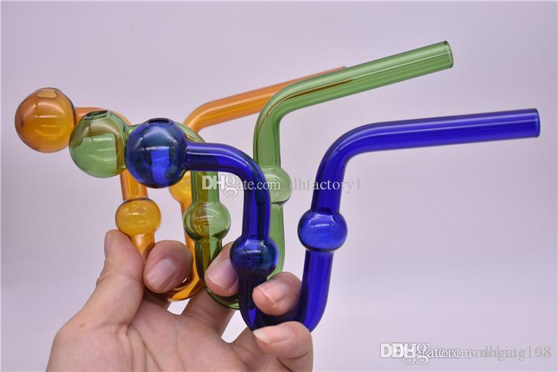 Großhandel billig S-Form-Glas Pyrex Ölbrenner Glasschlange Ölbrenner Rauchpfeifen Gebogene Glasrohr Rohr freies Verschiffen