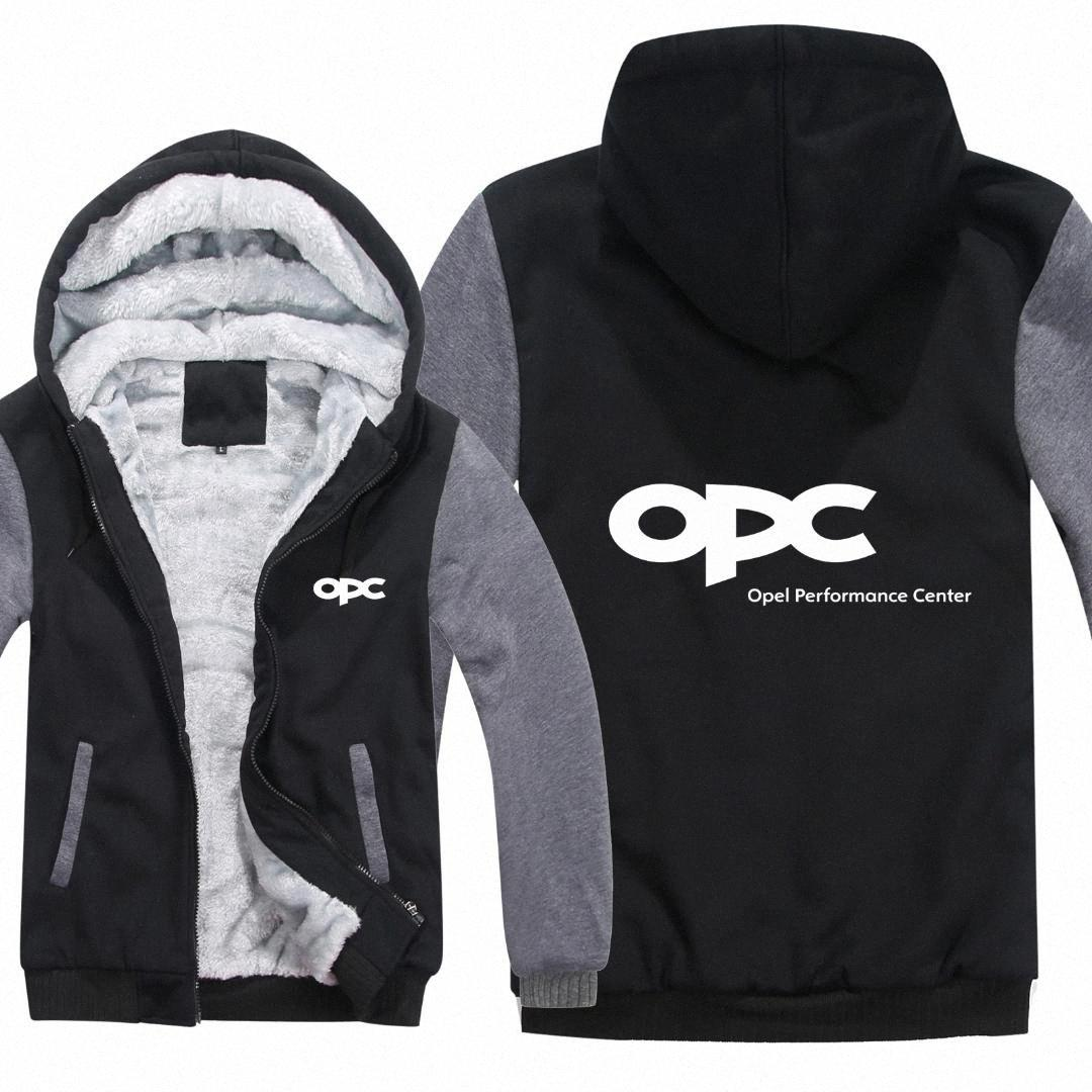 OPEL MOTORSPORT Sweats à capuche Hommes Zipper OPC PERFORMANCE CENTER Coat Toison Thicken Man OPC Sweat-shirt kZ05 #