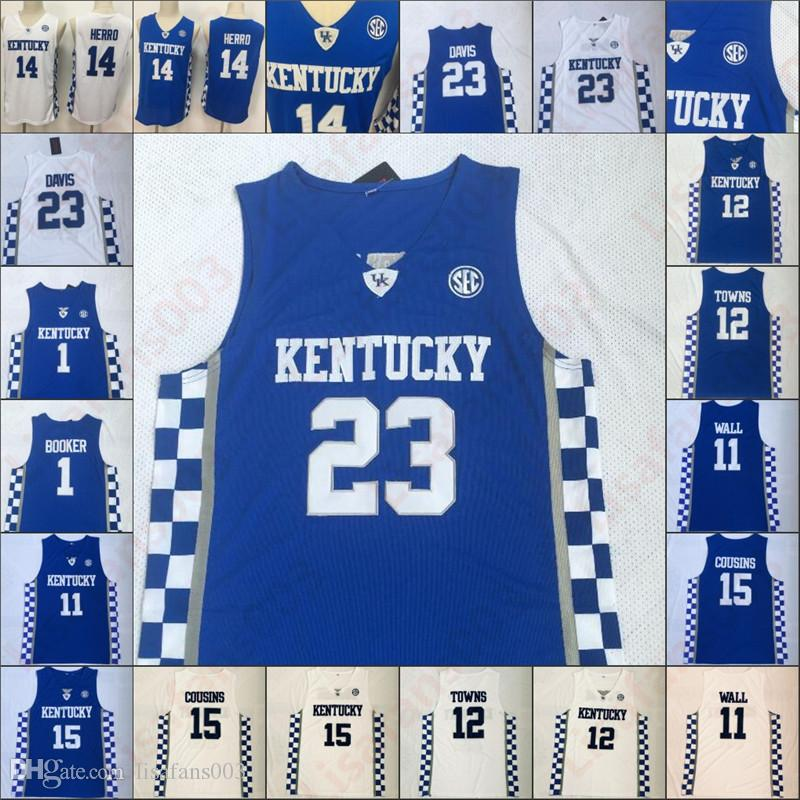 NCAA Кентукки Рискованные 12 городов 14 Tyler Херро 3 Тайриз Maxey 23 Davis Fox Девин Букер 1 Колледж Баскетбол сшитые мужчин Трикотажные изделия