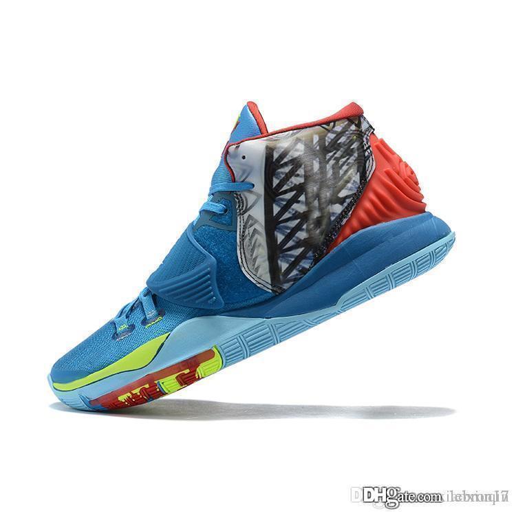 Дешевые мужские Ирвинг 6 баскетбол обувь Нью-Йорк Печать Рождество CNY Леброн Джеймс kyries 6S VI видов спорта кроссовки тенниса с коробкой