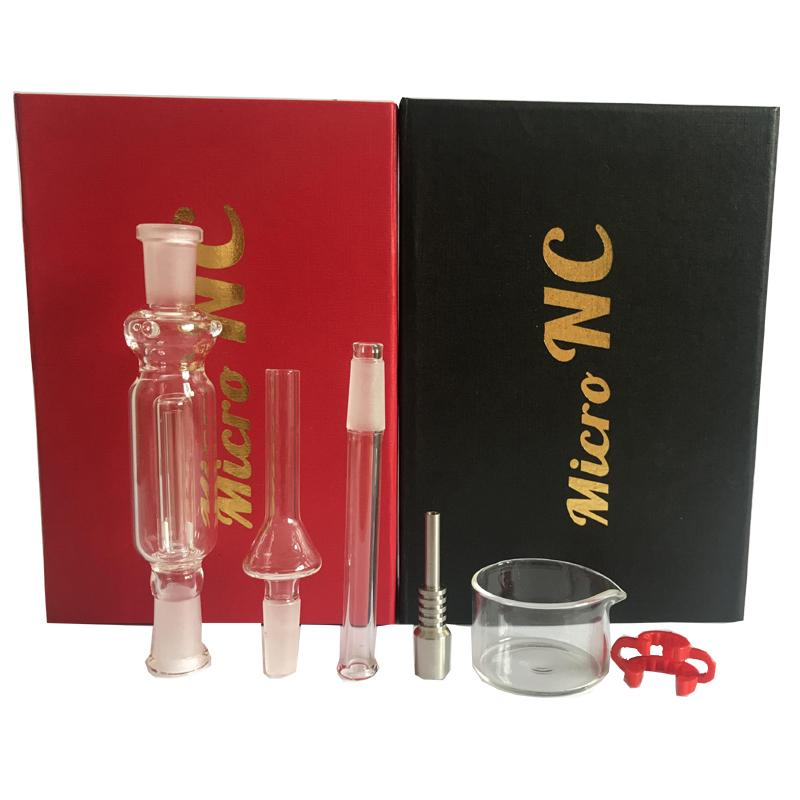 Nectar Collector Kit tubos 10 milímetros happywater 10 mm com titânio vidro prego Nectar Tubo Titanium prego fumar cachimbo de vidro de água em estoque