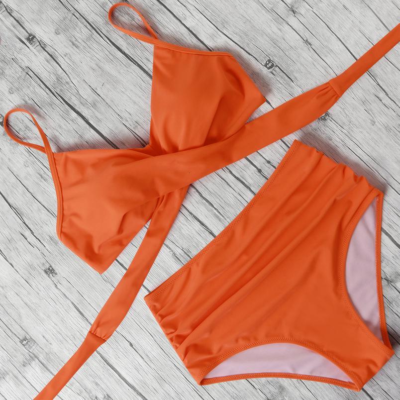 Seksi Bikini 2020 Push Up Mayo Kadın Çizgili biquini XI Leopar Mayo Halter Beachwear Yüksek Bel Mayo Kadınlar Bikini yazdır