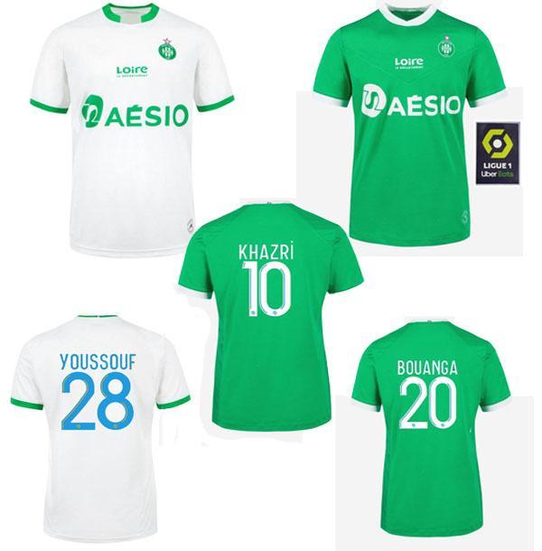 2020 2021 Como santos-étienne futebol jerseys maillot de pé yousssouf 2020 2021 etienne khazri boudebouz aholou fofana homem kit de futebol