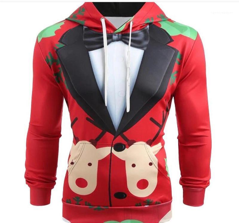 Langarm-Kapuzen Aufmaß Ferien Mens Entwerferhoodies-Herbst-Winter-Sweatshirts Weihnachten Elk Winter-Menshoodies-Blumen