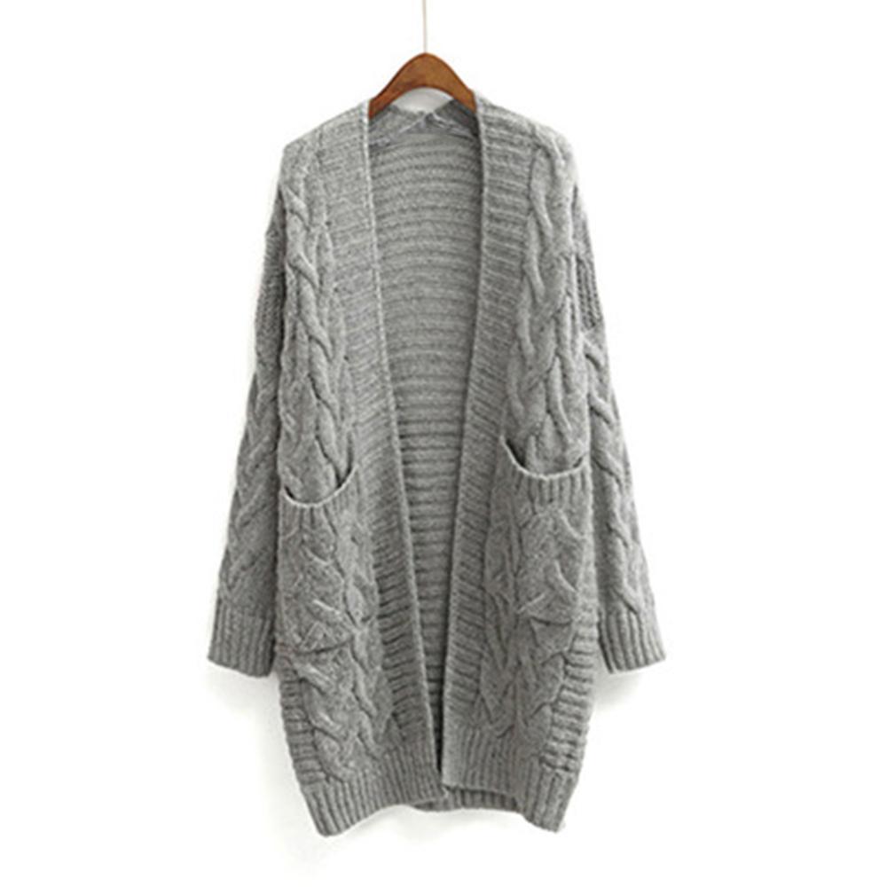 2020 Nouveau Automne long hiver Femmes en vrac manches coréenne tricot Cardigan épais manteau d'hiver Cardigans Pull CX200730