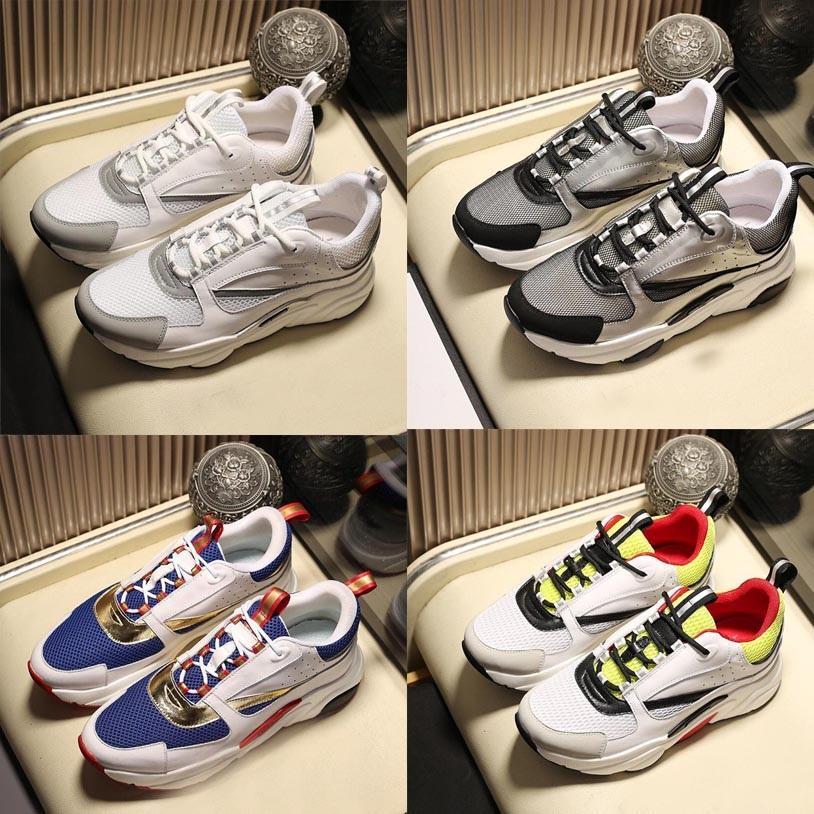 2020 vendita calda B22 B23 dei pattini casuali Bianco Obliques tecniche Knit Retro Patchwork Sneakers Bassa cima piatta Uomo Donna tela vitello Formatori