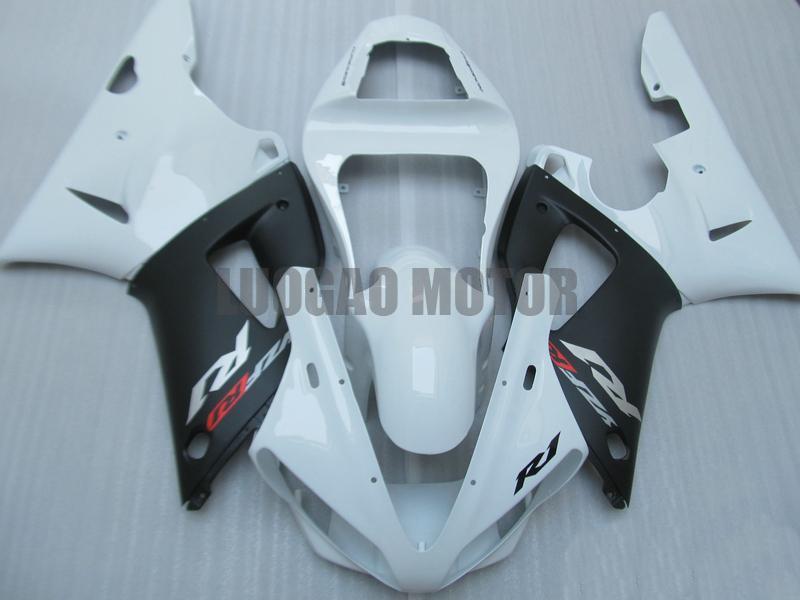 High quality White black Fairings for yzf 1000 r1 2000 2001 YAMAHA YZF R1 00-01 fairings for YZF R1 2000 2001 White black fairing kits
