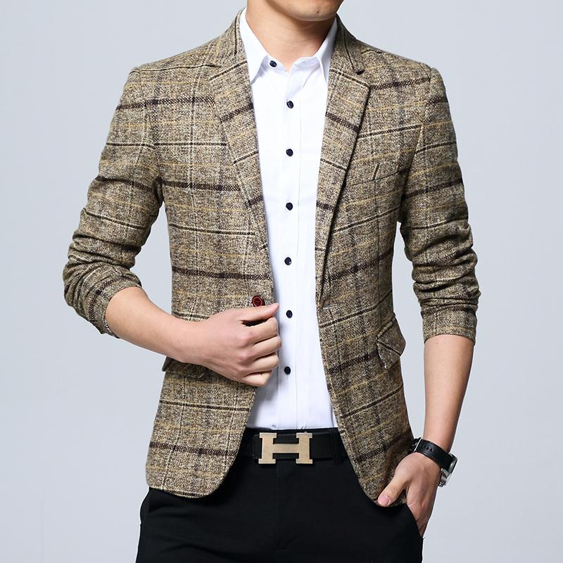 2020 Herrenmode Jacke Frühling Jackett Männer Blazer Mode schlanke Männer Freizeit-Outfits Blazer Männer Größe M-5XL