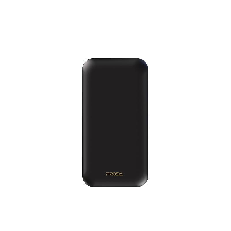 Proda Bart Series Power Bank com cabo 10000mAh USB Type-C Outdoor Multifuncional fácil de transportar carregador externo