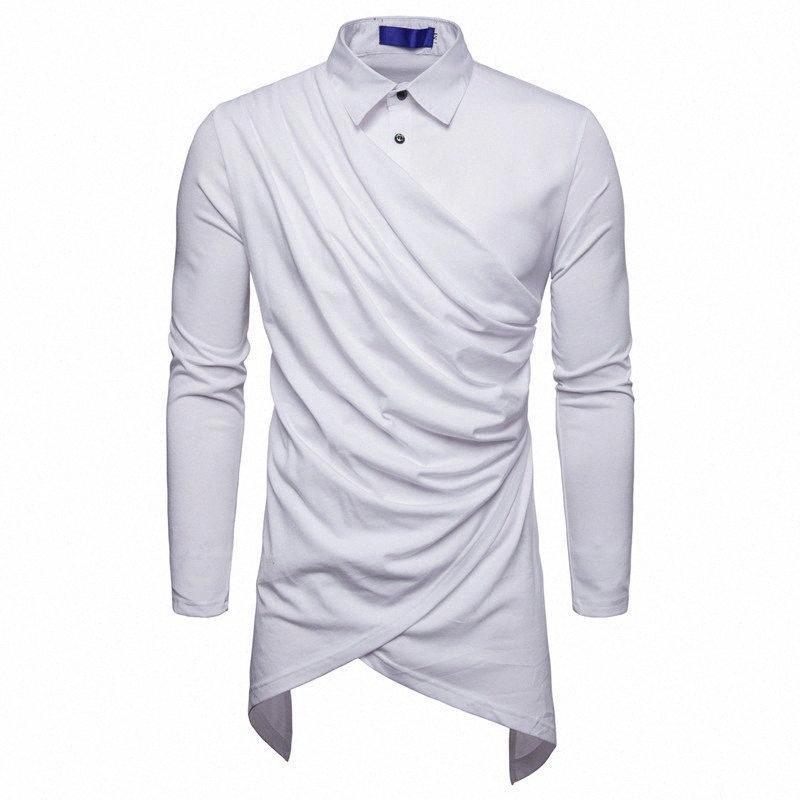 2018 New Mens Hipster Hip Casual Sólidos Hop longas da luva estendida swag camisetas Moda Urban Vestuário 4RuZ #