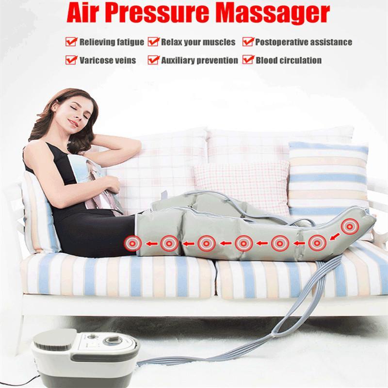 Air Wave давление Массажер Непрерывного сжатие иркуляционного ног Arm талия Нога Massageing машин расслабление мышцы Восстановление Девич