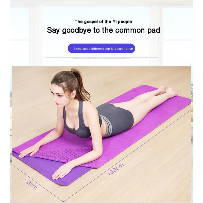 Soft Yoga Mat, Non-slip Towel Mat, PVC Plum Blossom Printed Fitness Supplies Hot Yoga Pilates Meditatio