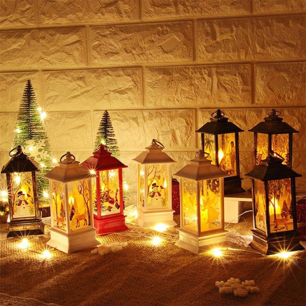 New Arrvials 13CM LED Lantern Light Pendant Decorative Party Night Light For Christmas Window Wall 2e9B#