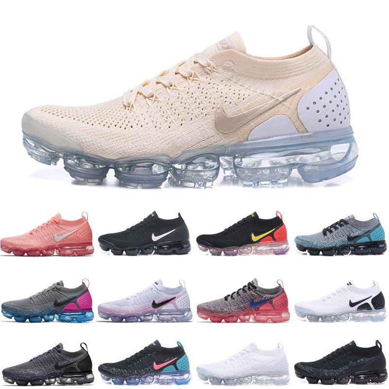 Nike Air Max 2018 Vapormax Gerçek kalite Moda Erkek Günlük Ayakkabılar Boyutu 36-45 için 2018 Casual 2,0 doğru sonuç lar Womens Şok Ayakkabı