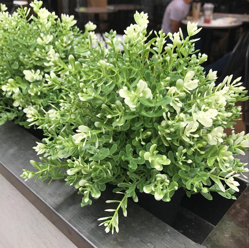 7 ramo artificial buquê de flores de plástico verde Milan plantas falsificados decoração de casamento decora casa