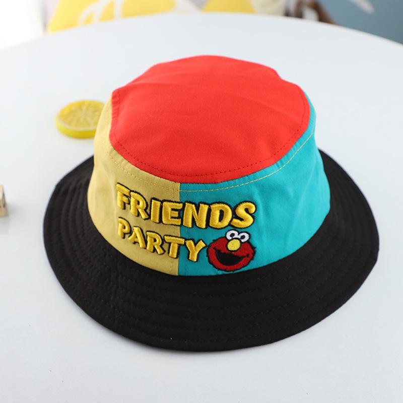 Bordados Historieta de los niños del verano Sun Beach de ala ancha sombrero de pescador studnet linda gorra de béisbol Boy